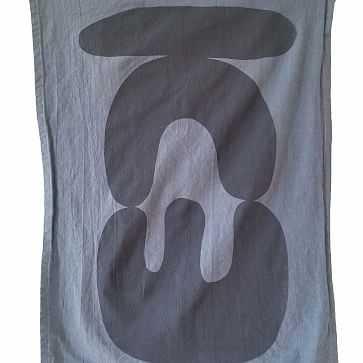 Claudia Pearson Ebb & Flow Tea Towel, Stack - West Elm