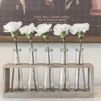 Villela Vase Holder with 5 Glass Vase - Wayfair