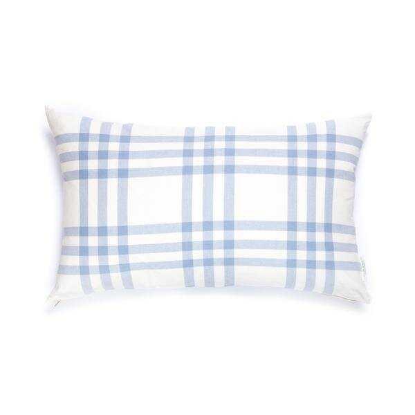 Caitlin Wilson Design Grande Plaid Cotton Pillow Cover Color: Eventide - Perigold