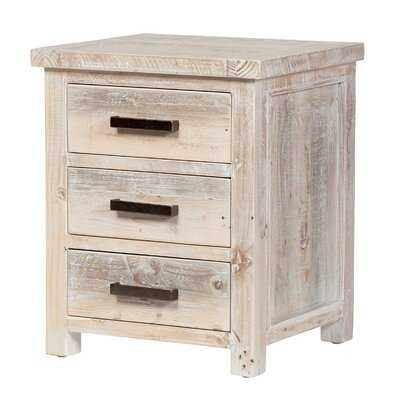 Vincente Reclaimed Pine Bedside Table - Wayfair