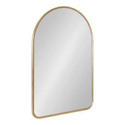 George Oliver Caskill Framed Arch Wall Mirror 24X36 Gold - Wayfair