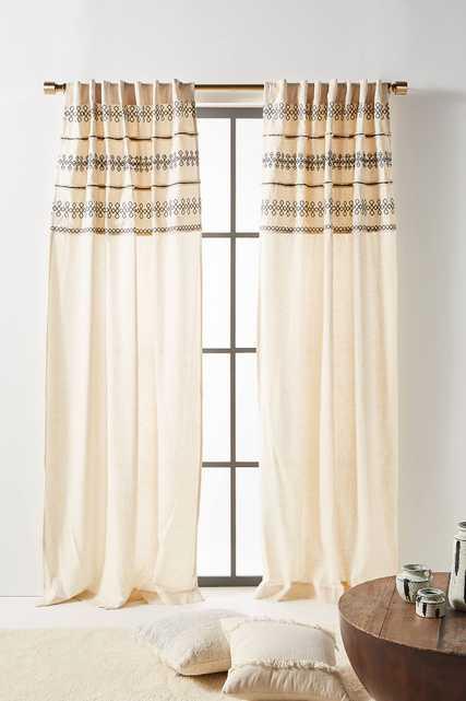 Embellished Mischa Curtain - Anthropologie