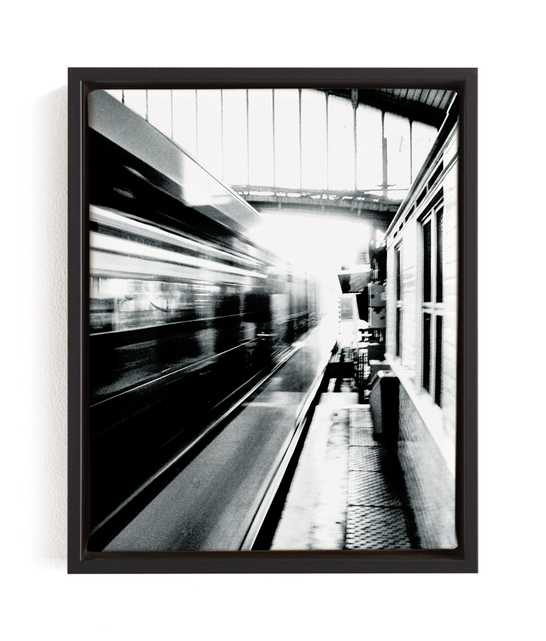 Riding On The Metro Art Print - Minted