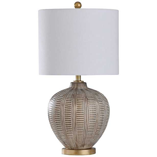 Baffo Gold and Cream Vase Table Lamp - Style # 93T58 - Lamps Plus