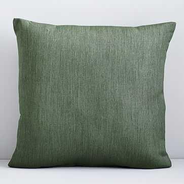 "Sunbrella Indoor/Outdoor Canvas Pillow, 20""x20"", Fern - West Elm"