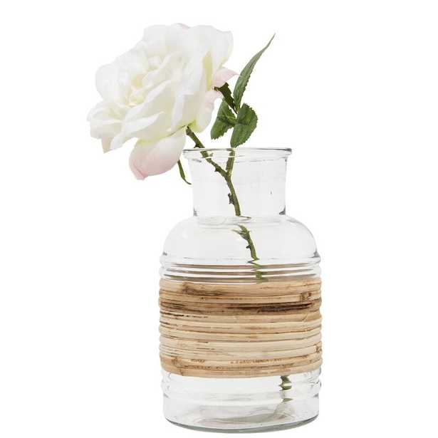 Bloomingville Clear Glass Vase With Wrapped Rattan Accent - Perigold