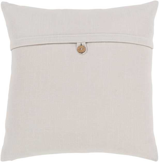 "Perine Pillow, 20"" x 20"", Ivory - Cove Goods"