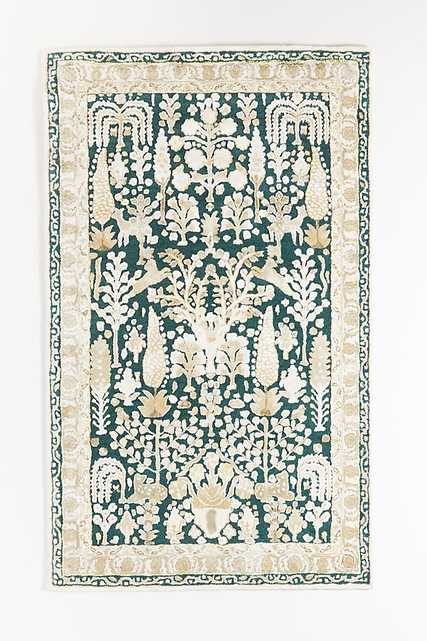 Flatwoven Jules Rug By Anthropologie in Green Size 9X12 - Anthropologie