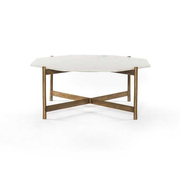 Four Hands Adair Coffee Table Table Base Color: Raw Brass - Perigold