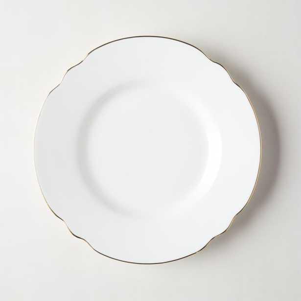 Chelsea White Salad Plate - CB2