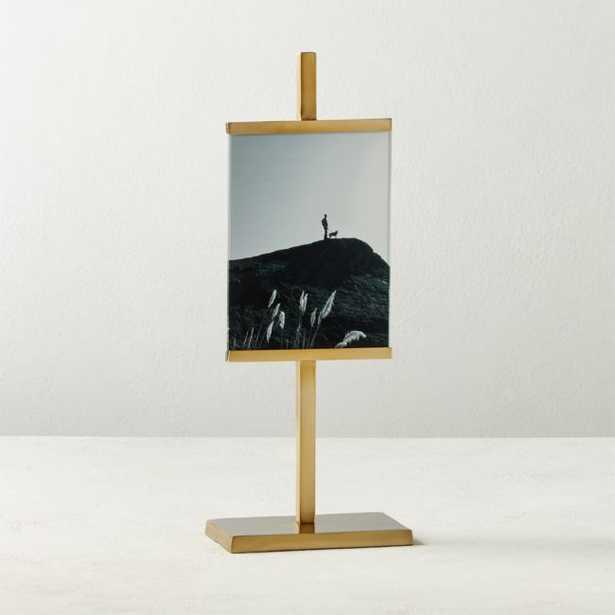 "Rothko Brass Vertical Picture Frame 5""x7"" - CB2"