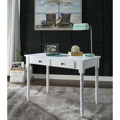 Alcibiades Desk In White - Wayfair