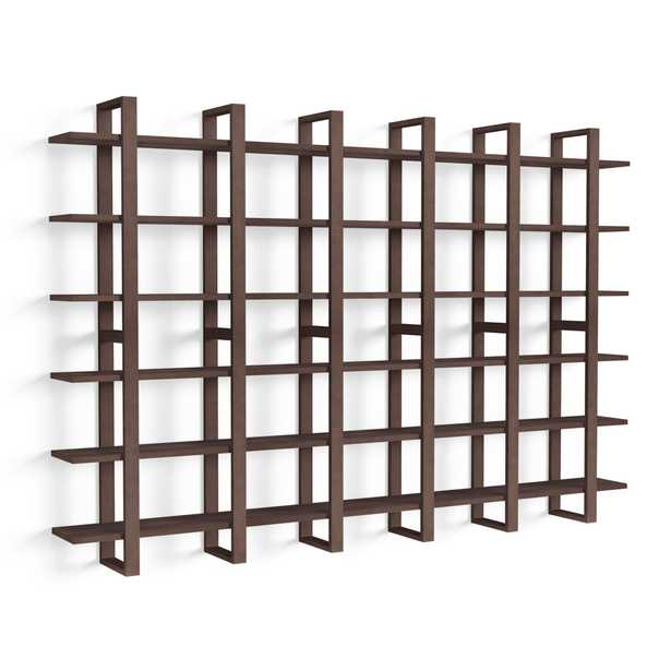 The Index Wall Shelf, Set of 6 in Walnut - Burrow