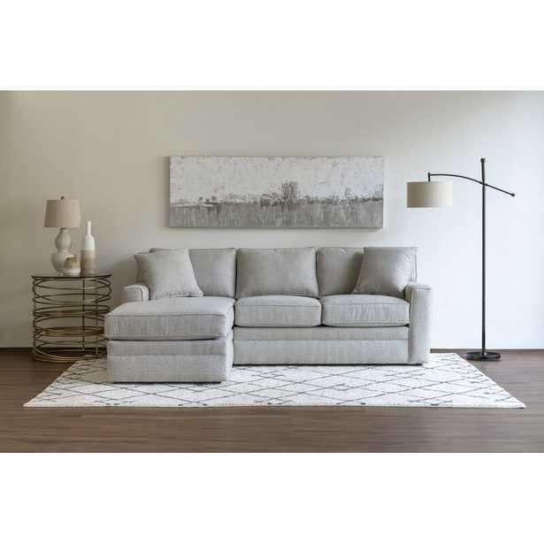 "Stone & Leigh™ Furniture Riley 93"" Left Hand Facing Modular Sectional Fabric: Light Gray - Perigold"