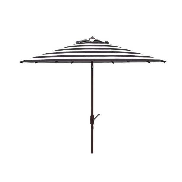 Safavieh Iris 11 ft. Market Tilt Patio Umbrella in Black/White - Home Depot