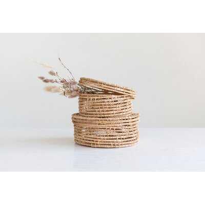 Handwoven Palm 2 Piece Wicker/Rattan Box Set - Wayfair