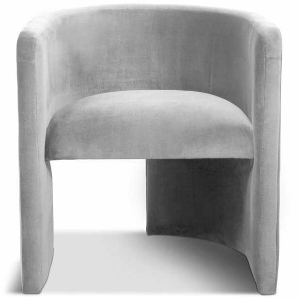 Martinique Barrel Chair Upholstery Color: Light Grey - Perigold