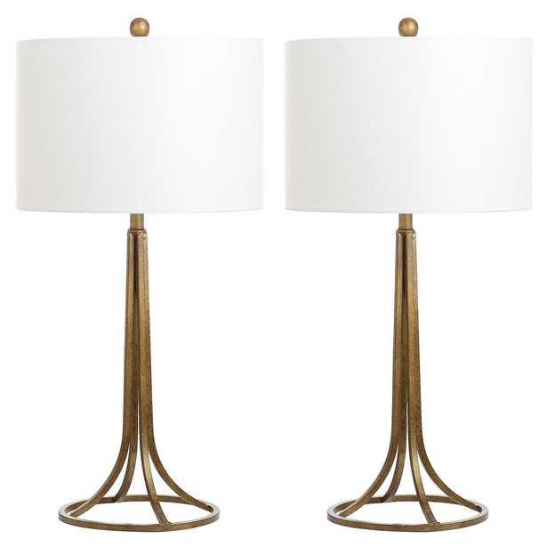 Safavieh Mckenna 30 in. Antique Bronze Table Lamp (Set of 2) - Home Depot