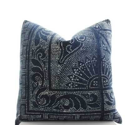 Chinese Indigo Batik Pillow Cover - 20x20 - No Insert - Etsy