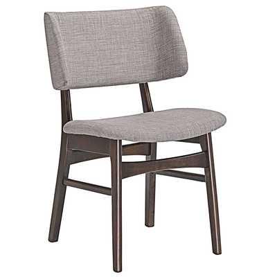 VESTIGE DINING SIDE CHAIR IN WALNUT GRAY - Modway Furniture