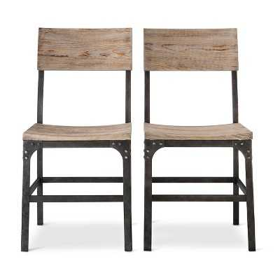 Franklin Wood Seat Dining Chair - Metal, Gray (Set of 2) - Target