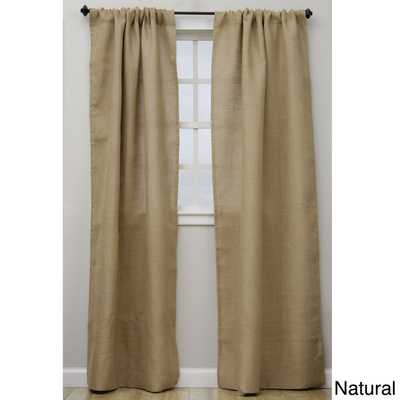 Open Weave Burlap 96-inch Curtain Panel - Natural - Overstock