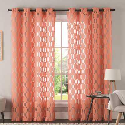 "Aria Single Curtain Panel -5"" - Wayfair"