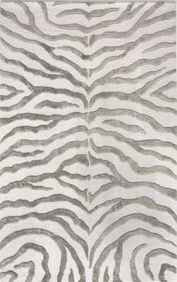 "Hand Tufted Plush Zebra Rug - 7'6"" x 9'6"" - Loom 23"