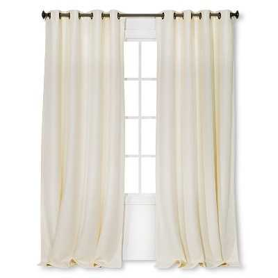 Basketweave Curtain Panel - 54x95 - Cream - Target