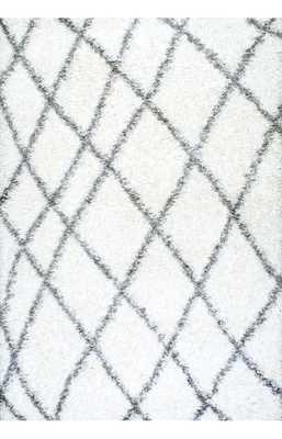 Alvera Easy Shag Rug-White- 8' x 10' - Loom 23