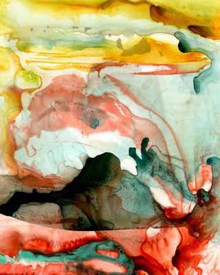 "Greystone Watercolor Canvas-48"" W X 60"" H-Unframed - Domino"