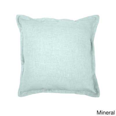"Grand Luxe Linen Throw Pillow - Mineral - 18"" x 18""- Polyester Insert - Overstock"