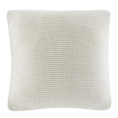 "Bell Point Knit Euro Pillow, White - 16"" H x 16"" W - Polyfill - Wayfair"