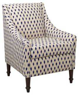 Holmes Accent Chair, Navy - One Kings Lane