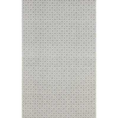 nuLOOM Handmade Flatweave Moroccan Trellis Grey Cotton Rug - 9 x 12 - Overstock