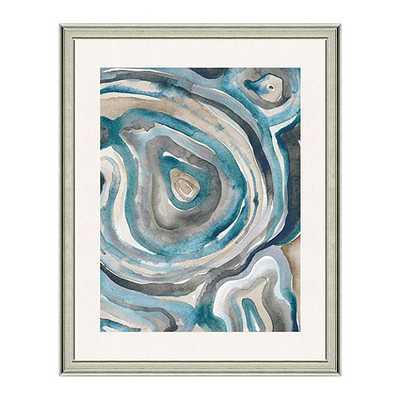 "Water Agate Art- Print II-  30"" x 24""- Antique Silve frame - Ballard Designs"