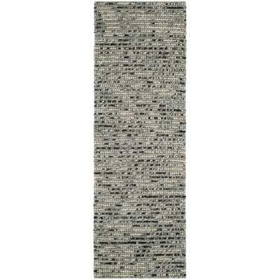 Safavieh Hand-woven Bohemian Grey/ Multi Wool/ Jute Rug (2'6 x 12') - Overstock