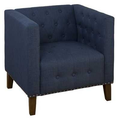 Zoe Tufted Arm Chair - Blue - Wayfair
