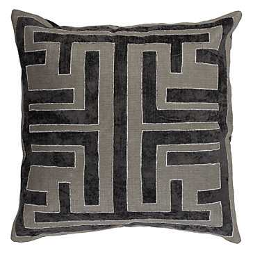 """Labyrinth Pillow 22"""", Charcoal - Feather/Down - Z Gallerie"""