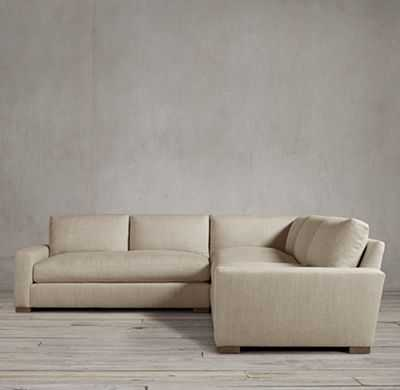"""98"""" PRECONFIGURED MAXWELL UPHOLSTERED CORNER SECTIONAL - NATURAL - RH"""
