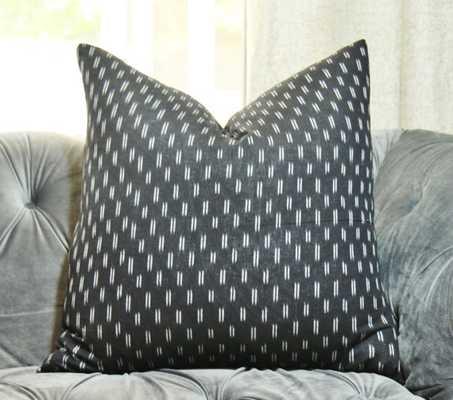 "Black Ikat Pillow - 18"" x 18"" - Insert sold separately - Etsy"