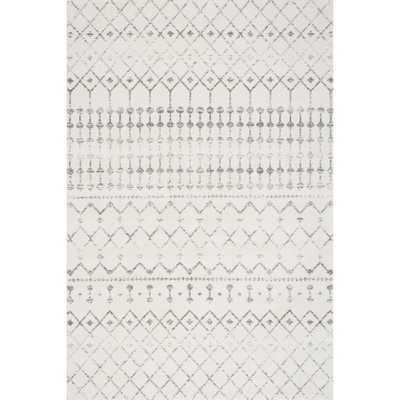 nuLOOM Geometric Moroccan Beads Grey Rug (4' x 6') - Overstock