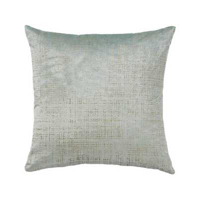 "Etched Velvet Mist Pillow-18"" x 18""-Down feather insert - Wayfair"