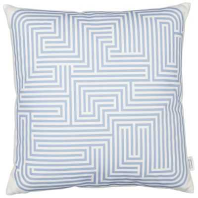 "Maze Graphic Pillow - Blue - 15.75"" x 15.75"" - Insert Included - lumens.com"