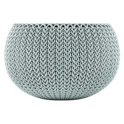 Curver Small Knit Cozie Planter - Green/Blue Mist - Target