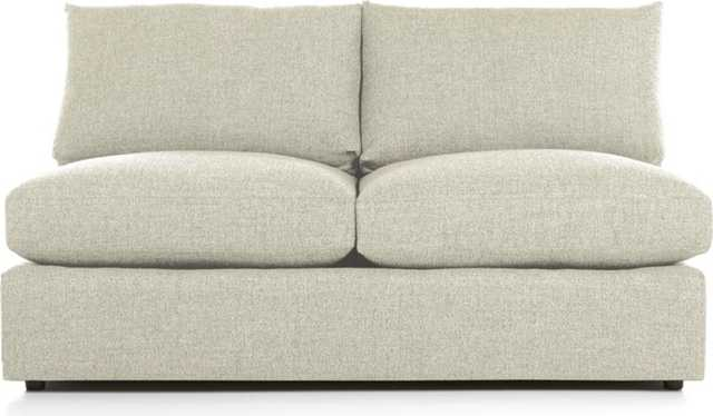 Lounge II Armless Loveseat - Cement - Crate and Barrel