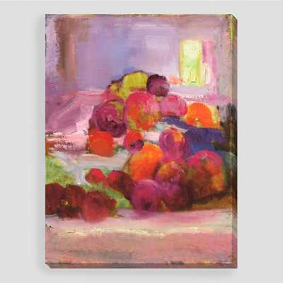 """Still Life Celebration II"" by Sylvia Angeli - 30""W x 40""H, 7 lbs. - Unframed - World Market/Cost Plus"
