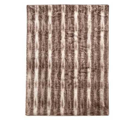 Faux Fur Throw - Light Fox - Caramel Ombre - 50x60 - Pottery Barn