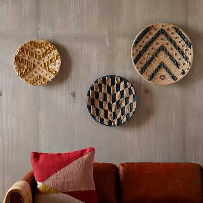 Decorative Wall Baskets - Assorted Set of 3 - West Elm