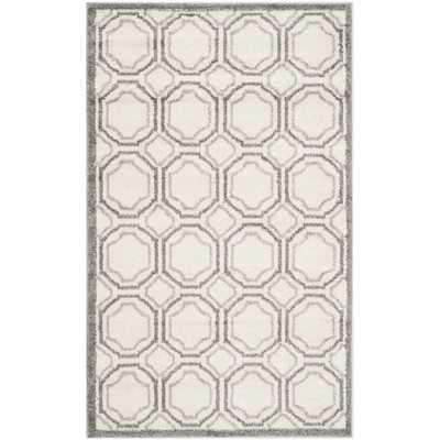 Amherst Ivory & Light Grey Area Rug - 3' x 5' - Wayfair